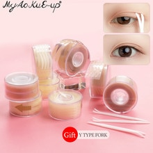 600Pcs/box Big  Eyelid Tape Sticker Double Fold Self Adhesive Eyelid Tape Stickers S/L Makeup Clear