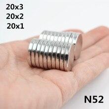 10/20 pièces aimant néodyme terre Rare petit rond fort aimant réfrigérateur permanent NdFeB nickel feuille magnétique