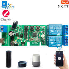 2CH DC5-32v Ewelink реле ZigBee модуль дистанционного Управление светильник переключатель Вики Alexa Google Home Sonoff/Tuya Smart Hub шлюз мост