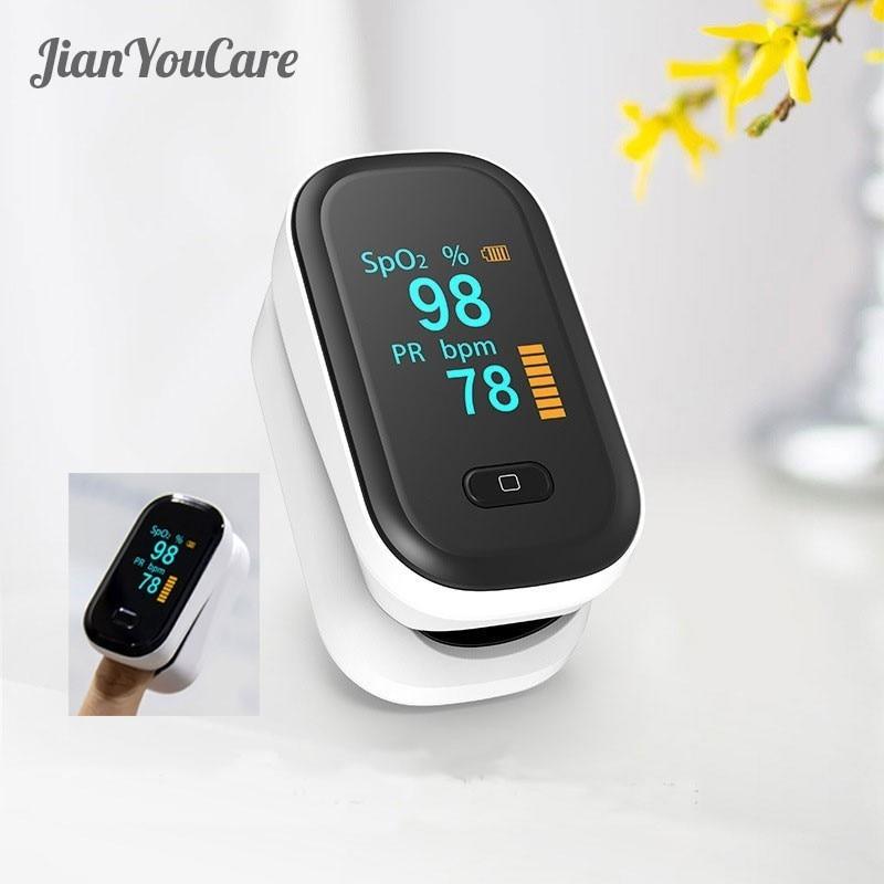 New Medical Portable Finger Pulse Oximeter Blood Oxygen Heart Rate Saturation Meter Oled Oximetro De Dedo Saturometro Monitor
