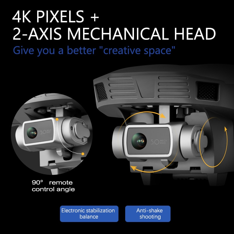 F4 GPS Drone with 5G WiFi FPV 2-axis Gimbal 4K Dual Camera Profesional Brushless RC Quadcopter Dron Helicopter Toy VS SG906 Pro 6