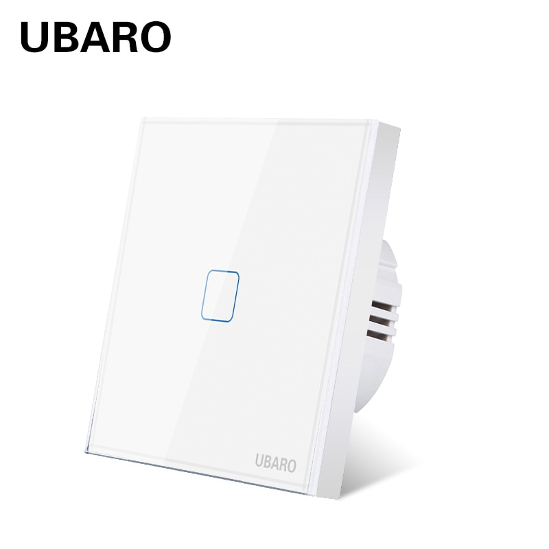 UBARO-Panel de cristal templado de lujo, Led de Pared de Luz táctil,...