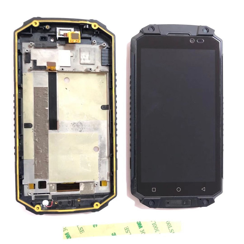 For Oukitel K10000 MAX LCD Screen Display with touch screen Digitizer Assembly with Frame Replacement + 3M Stickers