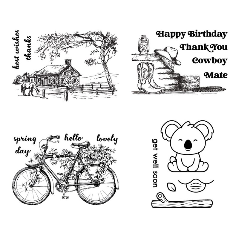 New Arrival Clear Stamps 2021 For Scrapbooking Paper Making Natural Landscape Account Craft Set Card Transparent Seal