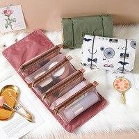 Новая многофункциональная косметичка с вышивкой, можно отсоединить, Вместительная дорожная и Удобная косметичка, сумка для мытья