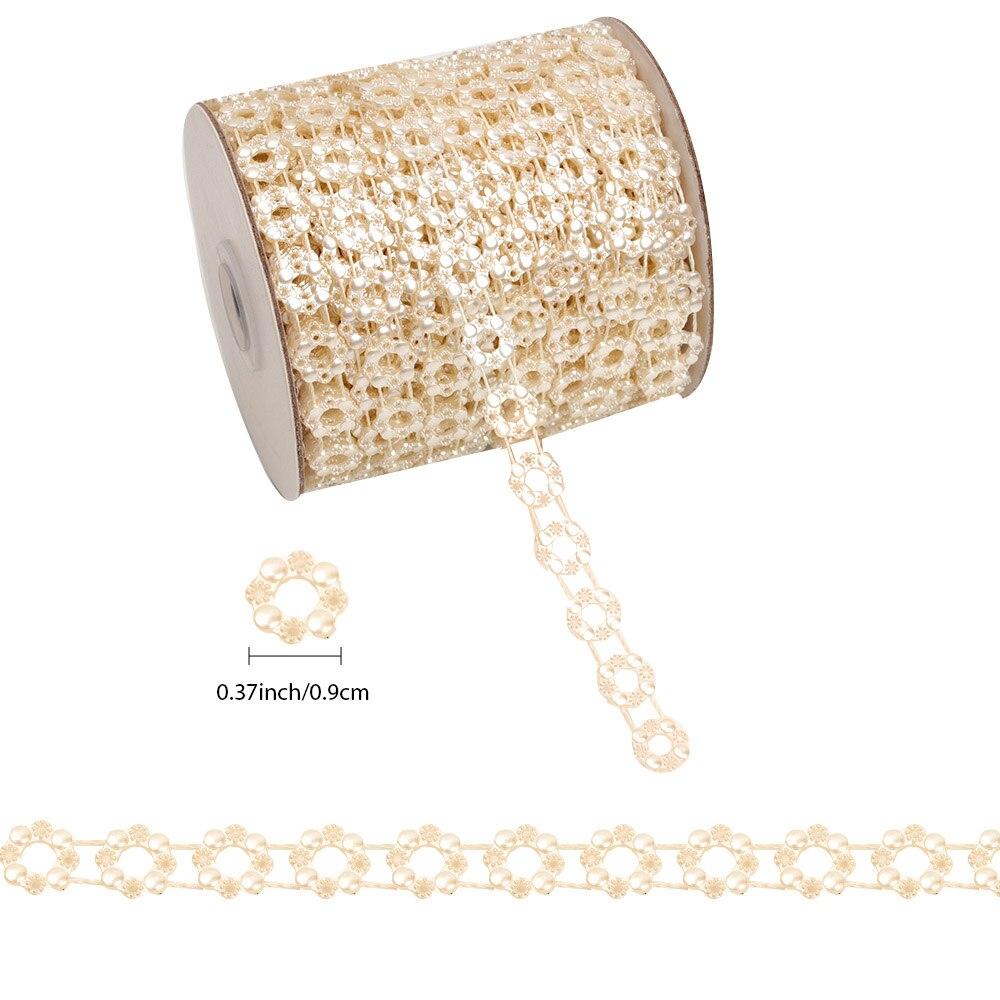 Купить с кэшбэком 10 or 2Yards 2.5mm ABS Imitation Pearl Beads Chain Trim for DIY Wedding Party Decoration Jewelry Findings Craft Accessories