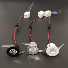 Minifoco de luz led para empotrar en el techo, accesorio de iluminación de 1w, CA 110v 220v, regulable, para el hogar, debajo del gabinete