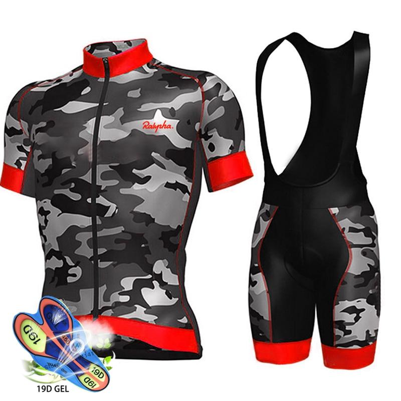 Ralvpha-traje de equipo para Ciclismo profesional, camiseta de Ciclismo profesional, pantalones cortos...