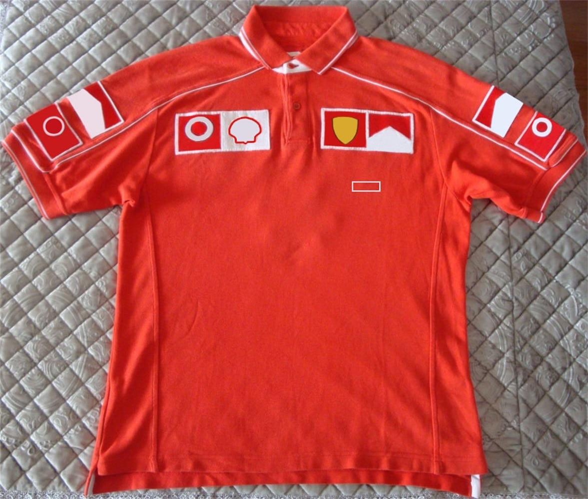Горячая Распродажа F1 формула 1 гоночный костюм рубашка-поло с лацканами одежда командная Рабочая одежда футболка с короткими рукавами Мужс...