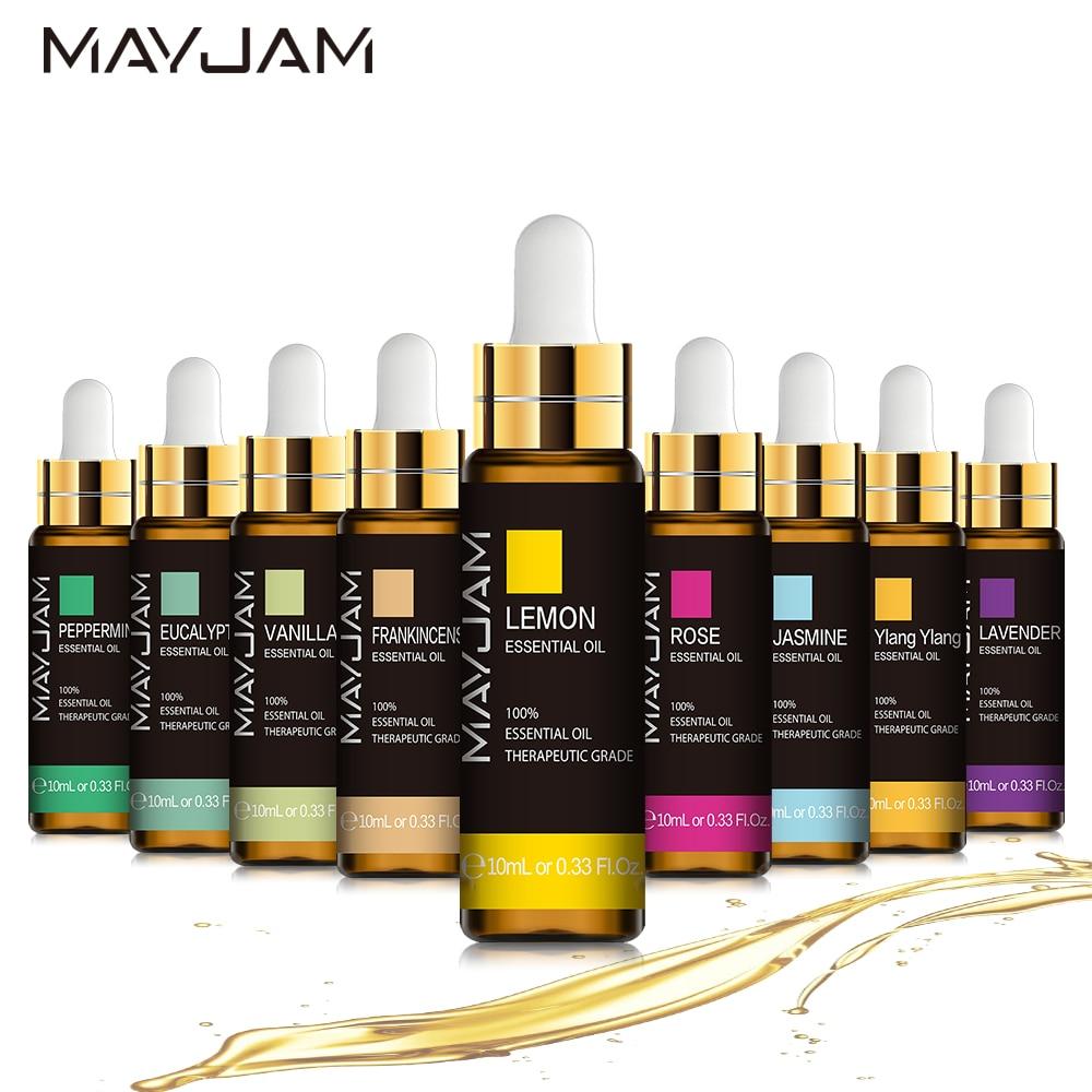 10ML Lavender Eucalyptus Pure Essential Oils Diffuser Rose Lemon Jasmine Vanilla Mint Sandalwood Ber