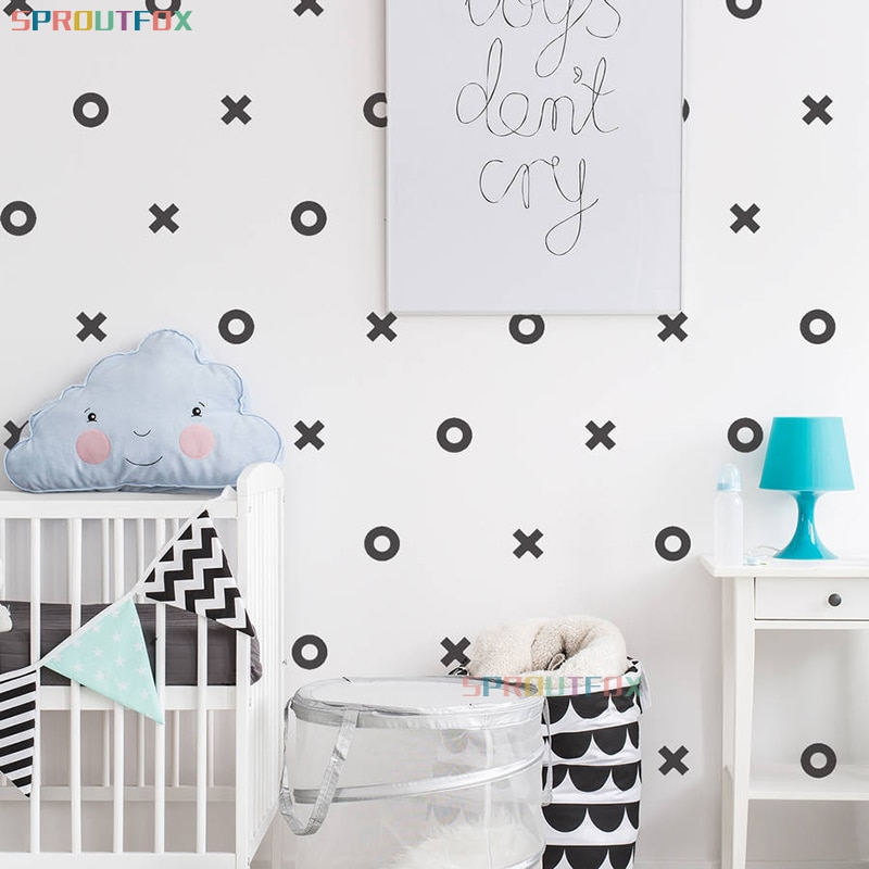 Decal Wallpaper Xo Wall Sticker For Boy Baby S Room Home Decoration Creative Cool Bedroom Art Child S Decals Leather Bag