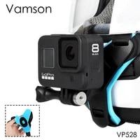 Vamson Motorcycle Helmet Front Chin Bracket Holder Tripod Mount for GoPro Hero 8 7 5 Black Sports Camera Gopro Accessory VP528