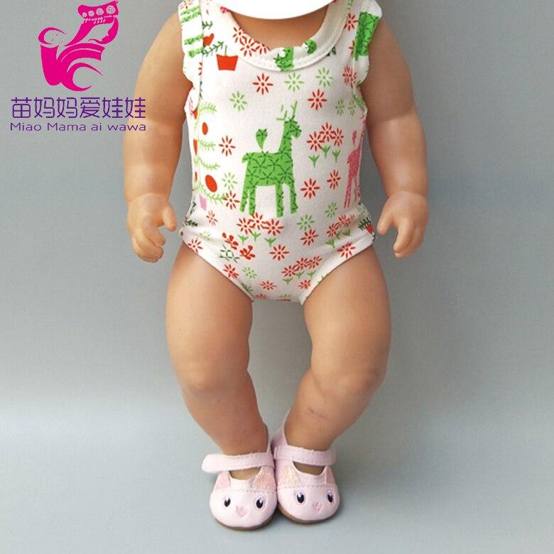 Ropa de bebé de 43cm, ropa de Reno para Navidad para bebés recién nacidos, ropa de muñeca, peleles, juguetes de muñeca, atuendo de Navidad
