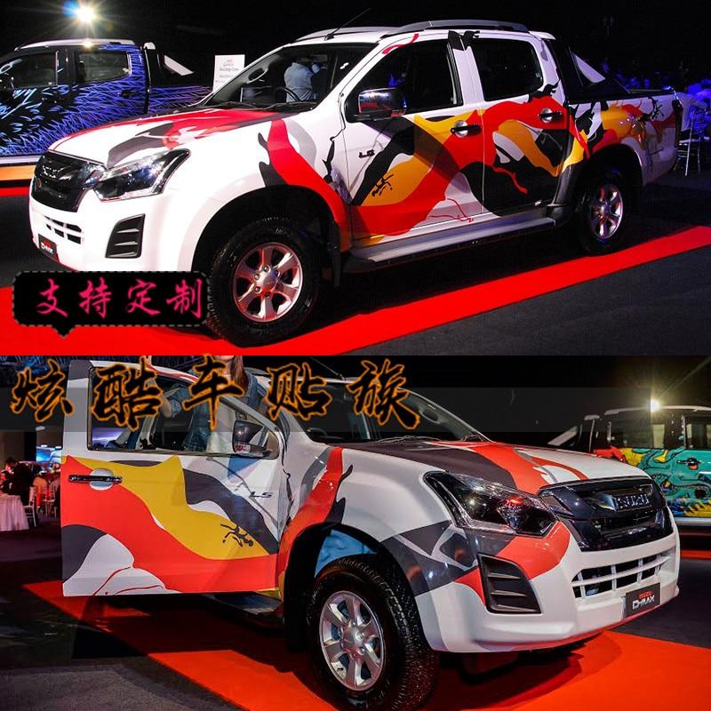 FOE Isuzu DMAX car stickers garland D-MAX body appearance decoration full car stickers color bars
