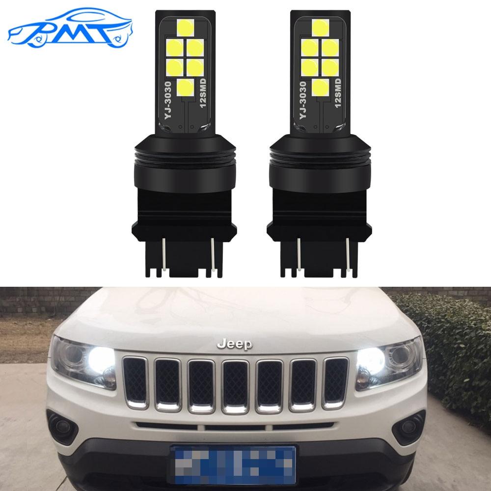 BMT-3157 phares de jour P27/5W P27/7W T25 12SMD   12V Super brillants, pour Jeep Grand Cherokee 2011