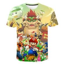 Kids Clothes T Shirt Super Smash Bros Mario Link Star Fox Pikachu Children T-shirt for Boys and Girls Toddler Shirts Tee