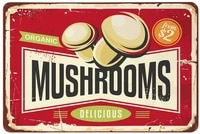 tin metal signsvintage posters decorationsmushrooms signs for cafes bars pubs shop wall decorative funny signs12x8 inches