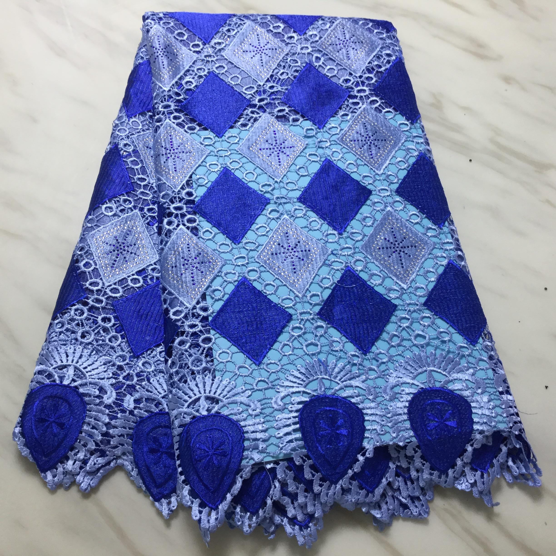 NaXiu tela de encaje suave soluble en agua de alta calidad suizo Nigeria con tela de encaje de piedra tela africana de hilo de red de fiesta de boda