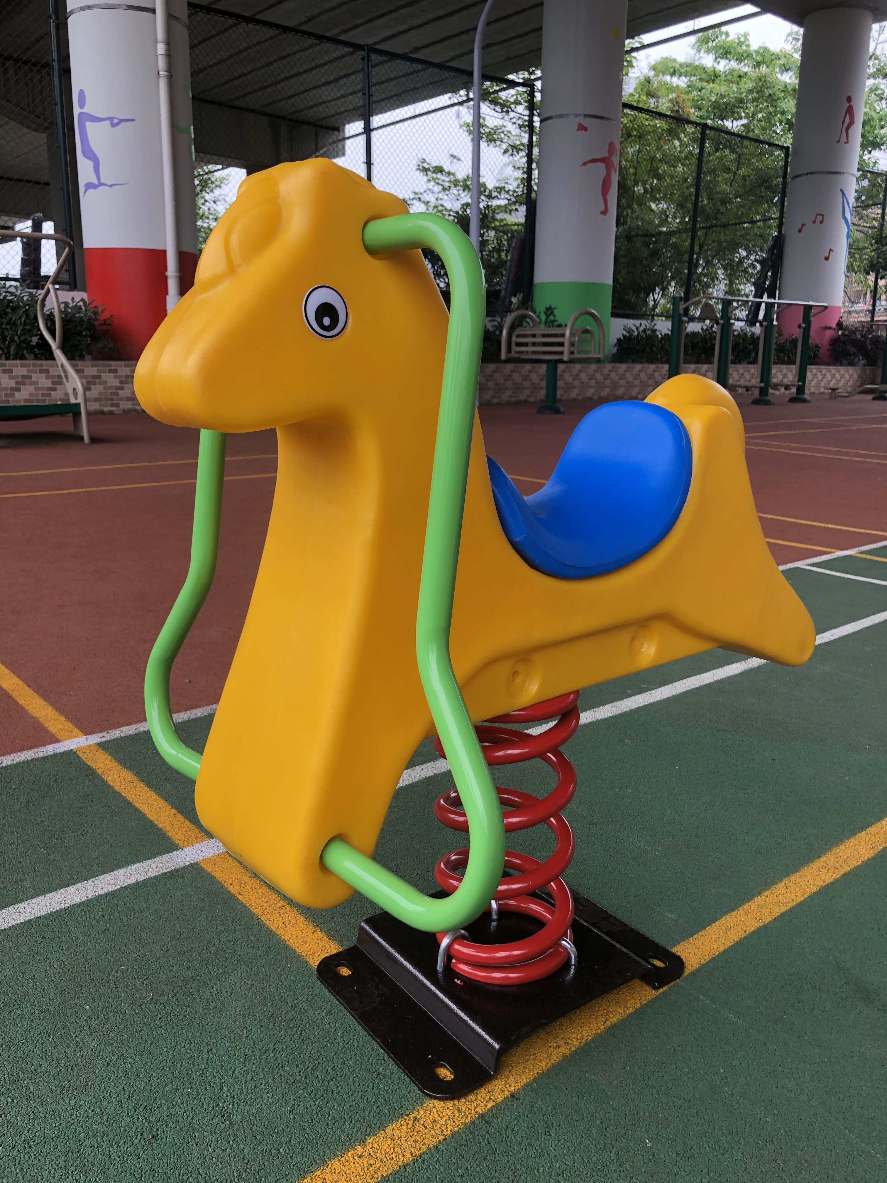 Passeio em brinquedos cavalo crianças cavalo brinquedos para crianças de balanço cavalo equitação brinquedos saltando brinquedo animal hobby ao ar livre playground funil y04
