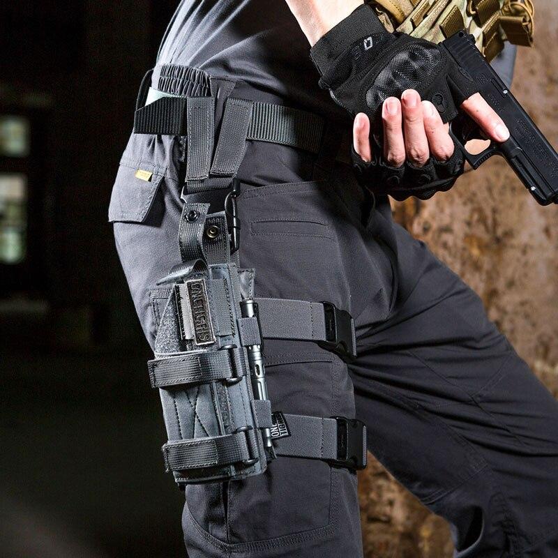 OneTigris táctico Molle gota pierna de plataforma y revólver cartuchera para Paintball funda mano derecha