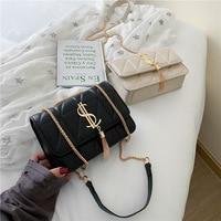 2021 брендовая дизайнерская женская сумка через плечо, женская модная зеленая сумка с металлическими цепочками, Курьерская сумка, кожаная Ро...