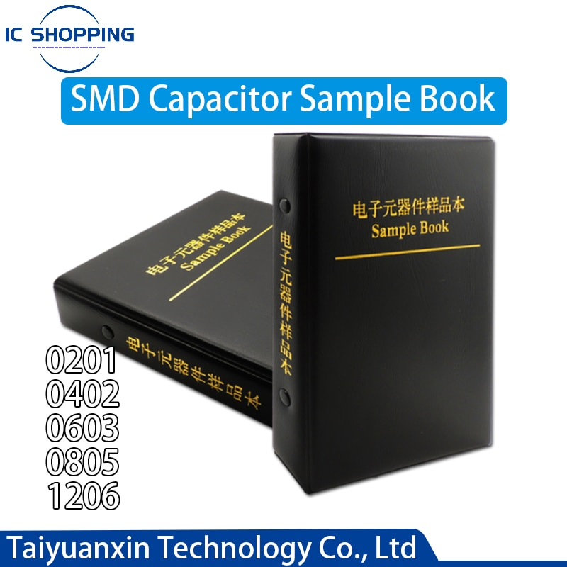 SMD Capacitor Assortment Kit Sample 0201 0402 0603 0805 1206 1pf~10uf 50 80 90 92 Kinds Capacitor Sample Book