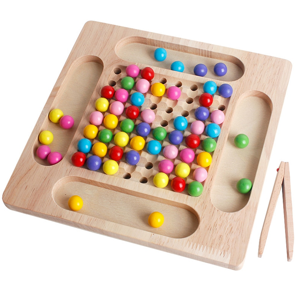 Baby Montessori Wooden Beads Game Early Educational Toys Puzzle Toddler Toy Learn Children Clip Ball Puzzle Preschool Kids Toys