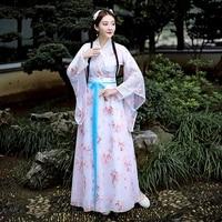 jin made hanfu chinese style ancient costume girls fairy summer women fairy hanfu dress waist cherry blossom skirts