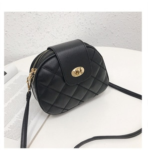 New Korean Casual All-Match Messenger Bag Lingge Trendy Shoulder Bag Platinum Small Bag