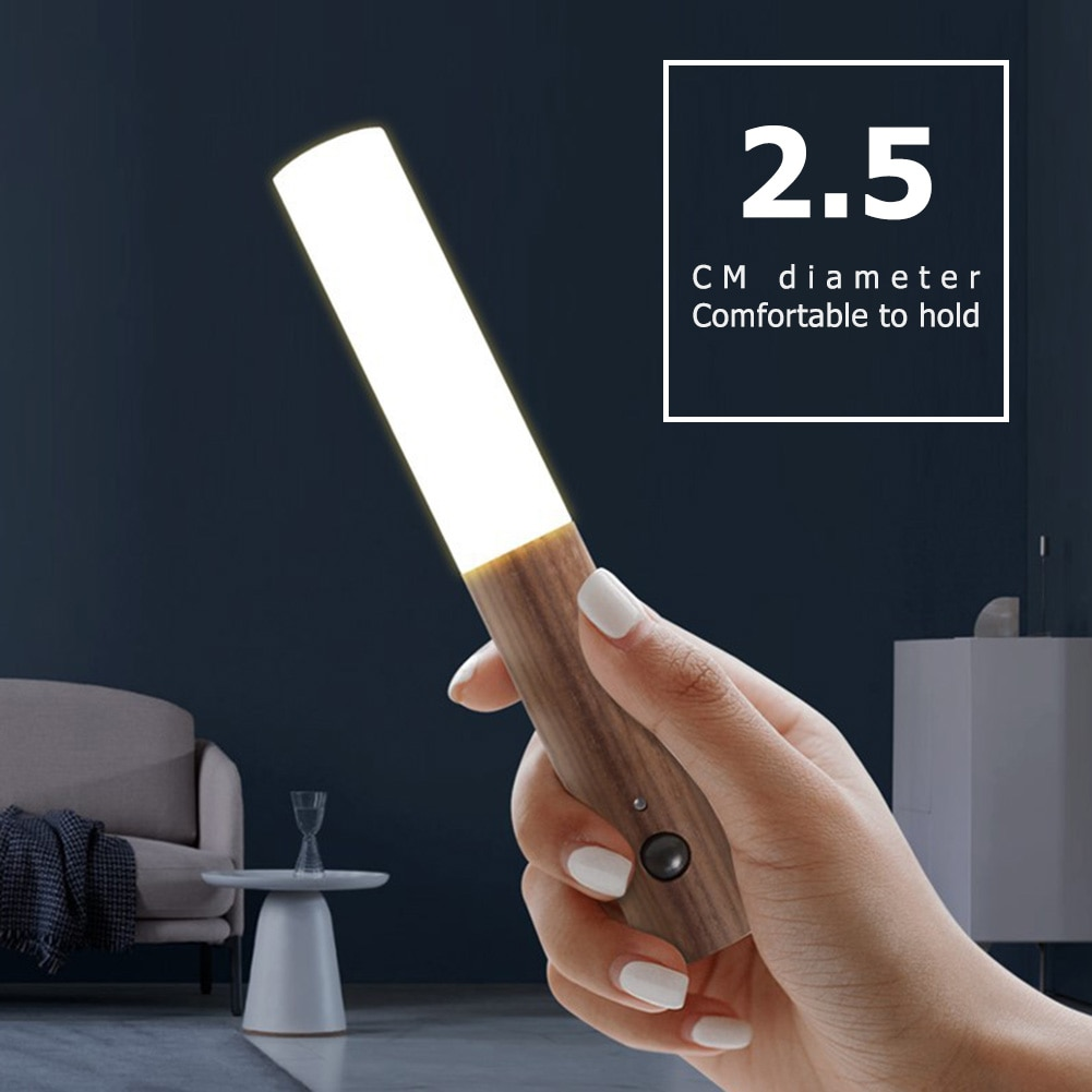 Lámpara de pared inalámbrica con Sensor fotosensible infrarrojo inteligente LED, lámpara de pared para cabecera, accesorios de iluminación de oficina para el hogar, suministros