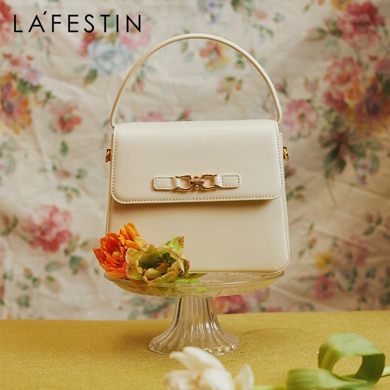 LA FESTIN الموضة الكلاسيكية مقبض علوي حقيبة كتف 2021 جديد عصري المرأة الخفيفة حقيبة يد فاخرة مصمم الإناث صندوق مربع صغير