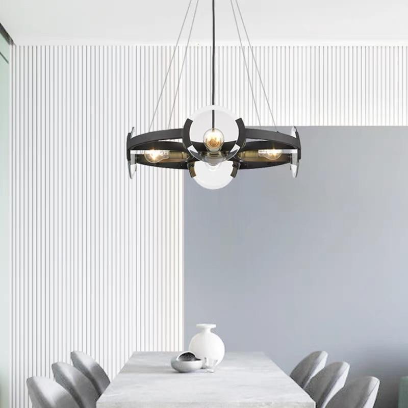 nordic restaurante lustres designer criativo pos moderno e minimalista metal modelo