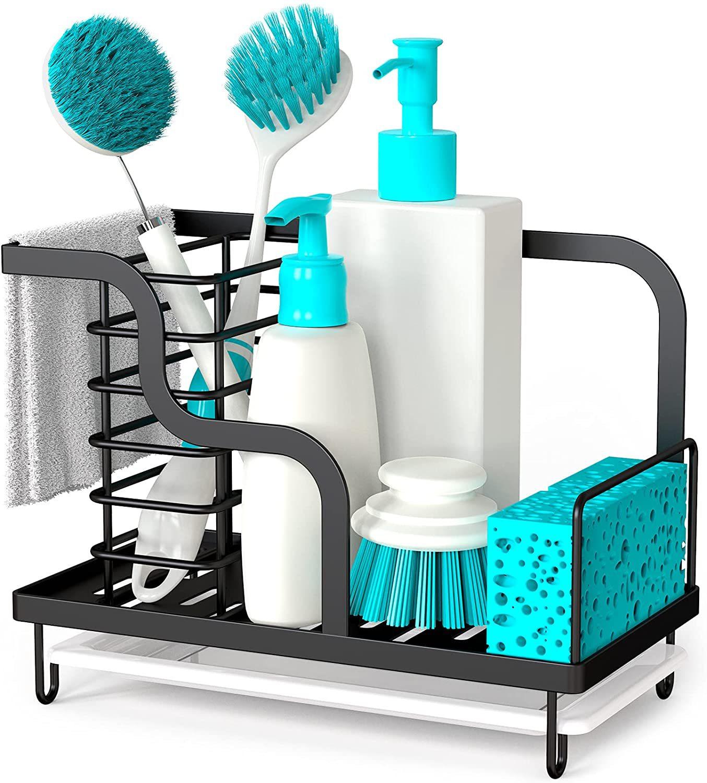 بالوعة المطبخ منظم العلب الصغيرة الإسفنج حامل مع للإزالة حوض غمس فرشاة الصابون حامل تخزين الأطباق