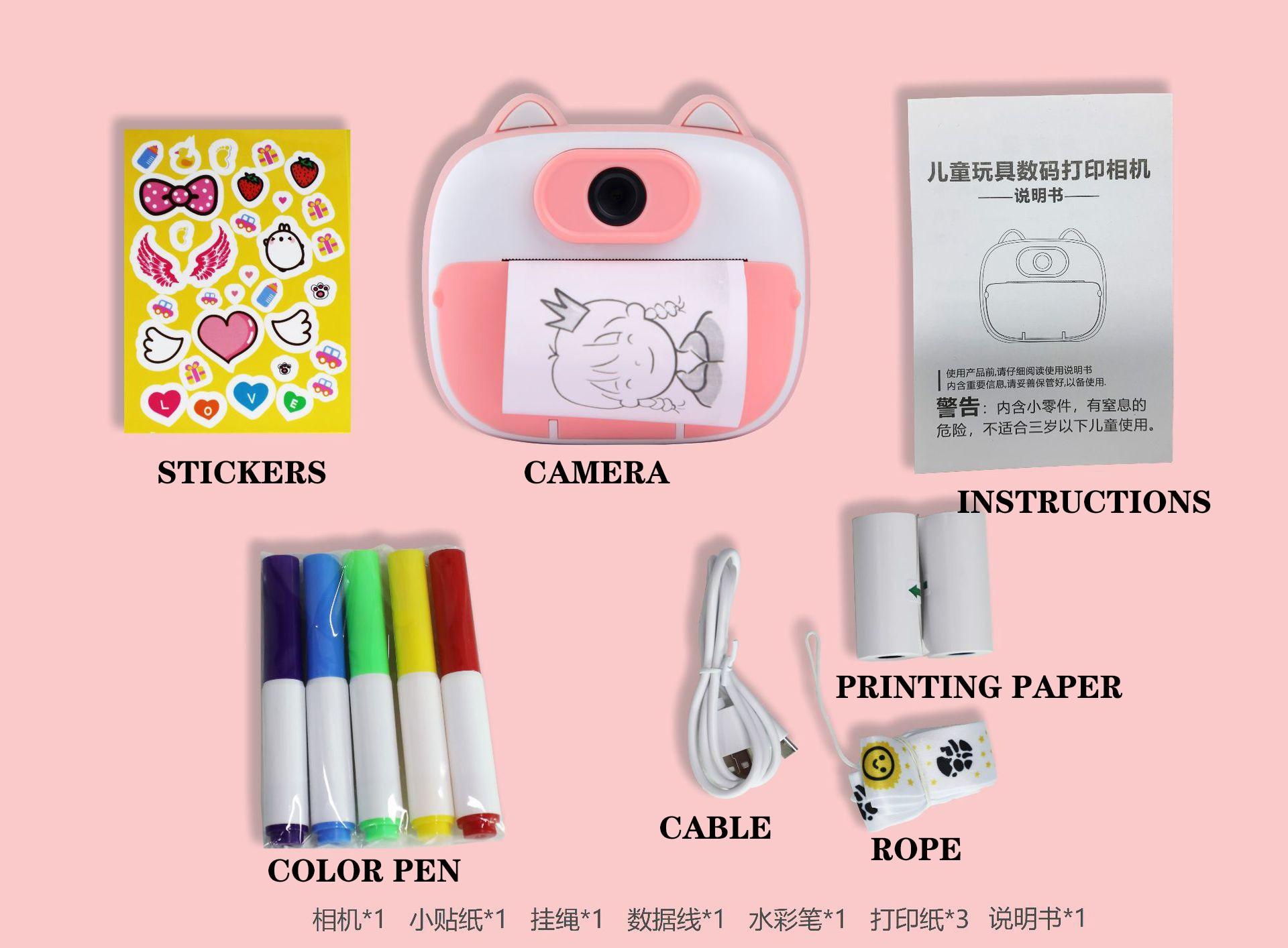 Littlebrat Children Camera For Kids Instant Camera Digital Video Camera For Children Photo Camera Toys For Girl Birthday Gifts enlarge