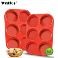 walfos food grade silicone cake molds non stick cake bakeware baking tools 3d bread pastry mould pizza pan diy birthday party