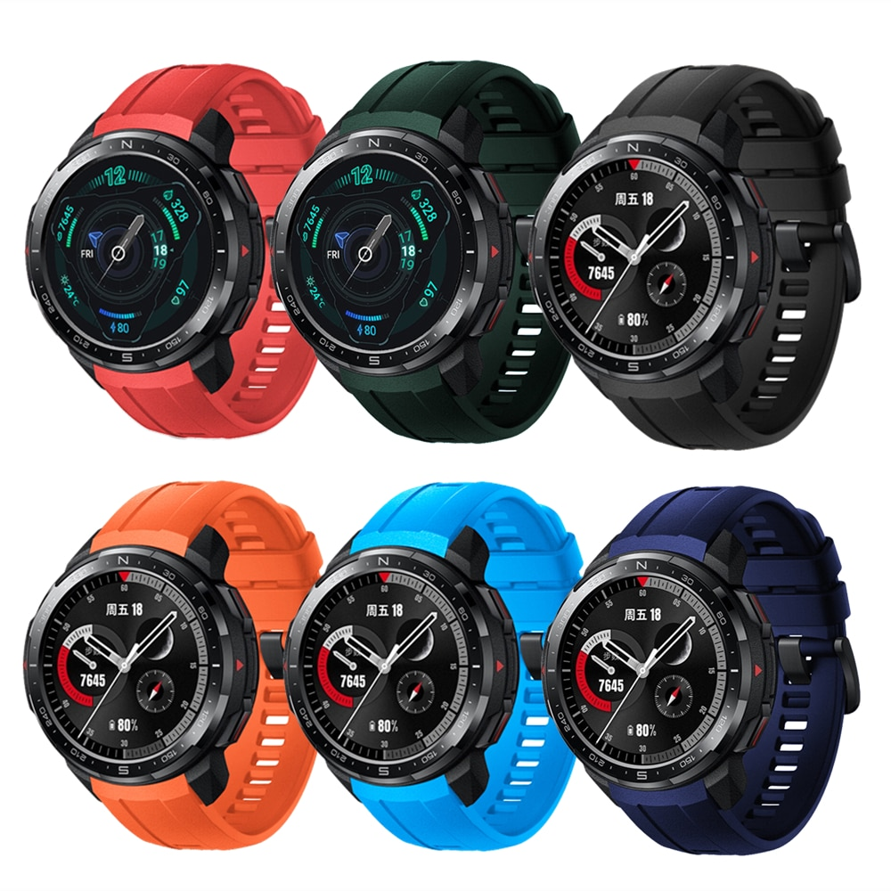 Silicone Strap For Honor Watch GS Pro Wristband Replacement Soft Sport Bracelet Accessories For Huaw
