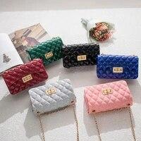 2021 summer new transparent jelly bag rhombic chain handbag mini mobile phone shoulder bag