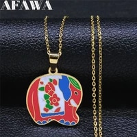 elephant stainless steel color enamel necklaces chain women gold color small kids necklace jewelry acero inoxidable n9505s01