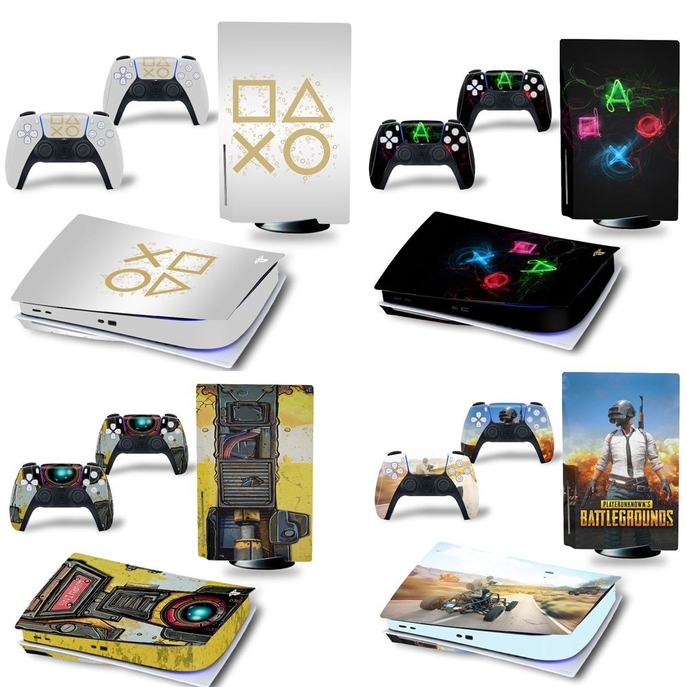 for PS5 Skin Sticker New Design Decal Cover for Playtation 5 Console and 2 Controllers PS5 Standard Disk Skin Sticker