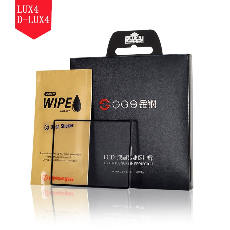 GGS IV 0.3mm Japanese Optical Glass 6 Layers Electrostatic Attraction LCD Screen Protector 8H Cover for Leica LUX4 D-LUX4 Camera
