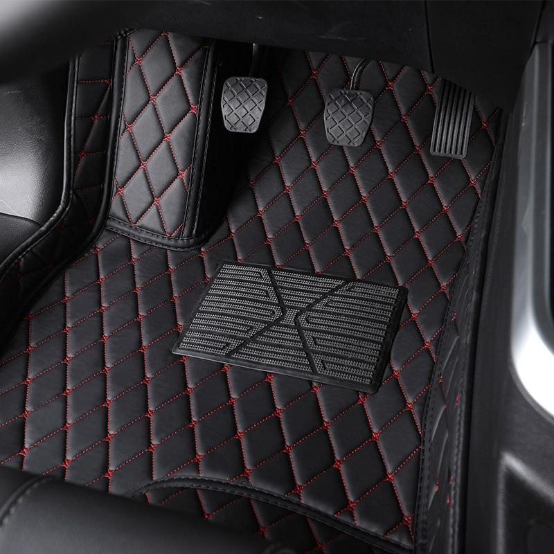 Flash mat leather car floor mat For SsangYong Korando Rexton Actyon Chairman Kyron Wearproof Carpets car foot mats car styling