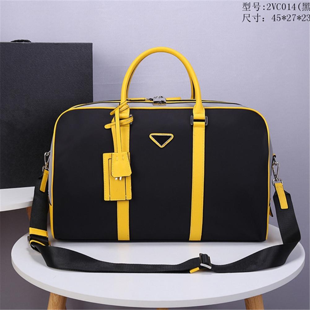 2021 men's yellow nylon canvas waterproof travel bag with code lock simple leisure suitcase sports outdoor largecapacity handbag