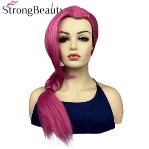 StrongBeauty Long Scorpion Braid Beauty Pointed Rose Wig Cosplay Party Synthetic Wigs Heat Resistant Halloween Hair