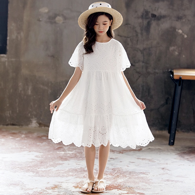 Novo 2020 verão meninas vestido bordado bebê princesa vestidos crianças vestido de festa com forro roupas da criança algodão bonito, #8801