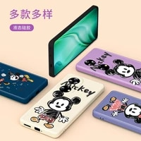 mickey minnie sweet couple for huawei p50 p40 p30 p20 5g lite p smart z pro plus 2021 2019 liquid silicone soft phone case