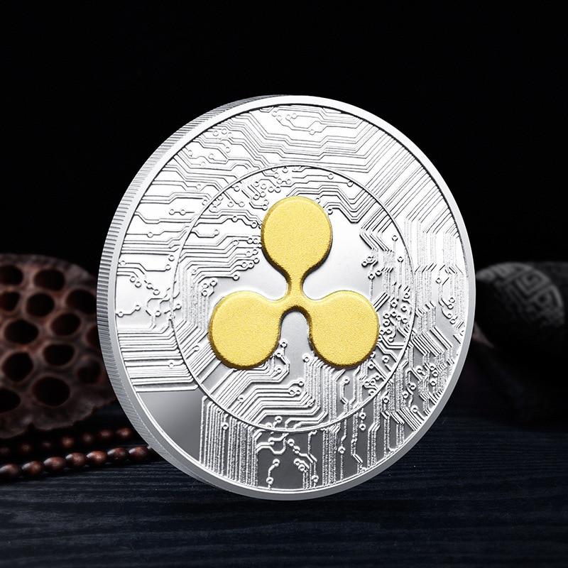 Высококачественная гофрированная монета памятные коллекционные монеты Подарочная гофрированная монета XRP физическая Коллекция 1 шт. гофри...