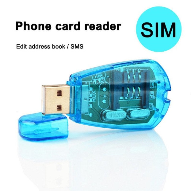USB lector de tarjetas SIM tarjeta SIM escritor/copia/clonador/copia de seguridad GSM CDMA WCDMA soporte 2,0 rápido leer y escribir SMS de copia de seguridad
