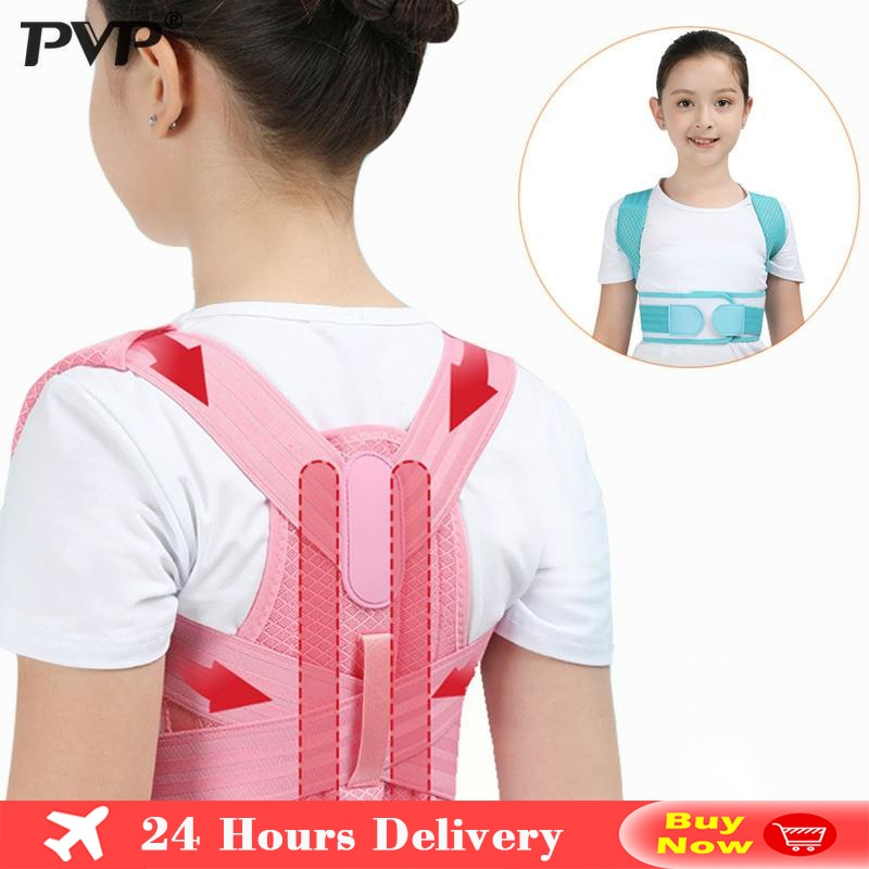 Adjustable Children Posture Corrector Back Support Belt Kids Orthopedic Corset For Kids Spine Back L