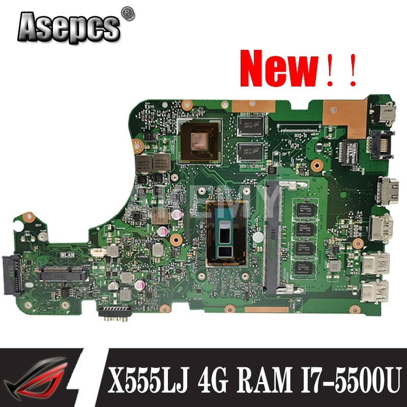 Akmey X555LJ mianboard con 4GB de RAM I7-5500U GT920M/2GB para For Asus X555LNB X555LN X555LD placa base X555LB X555LJ