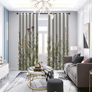 Luxury Window Treatment plant Curtains For Living Room Bedroom Photo Drapes For Kitchen Door Decor